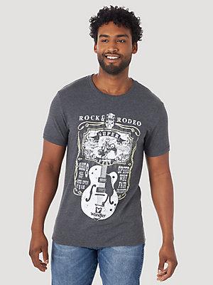 Wrangler Mens Americana Short Sleeve Crew Neck Graphic Logo T-shirt Tee Top