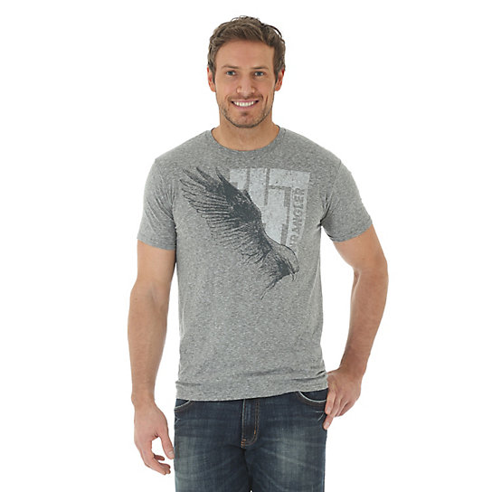 Men's Wrangler 47® with Eagle Screenprint Short Sleeve T-Shirt