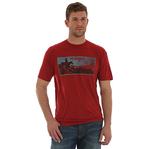 Men's Wrangler® Short Sleeve Desert Screenprint T-Shirt