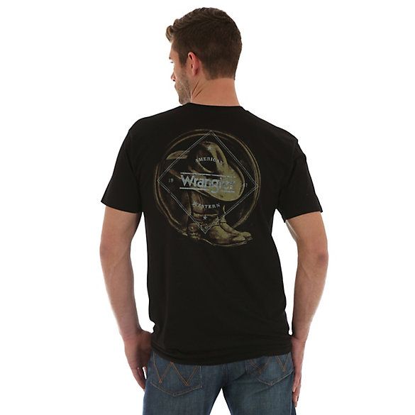Men's Wrangler® Short Sleeve Est. 47/American Western Screenprint T-Shirt