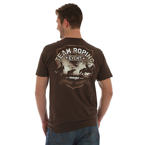 Men's Wrangler® Short Sleeve Teaming Roping Event Screenprint T-Shirt