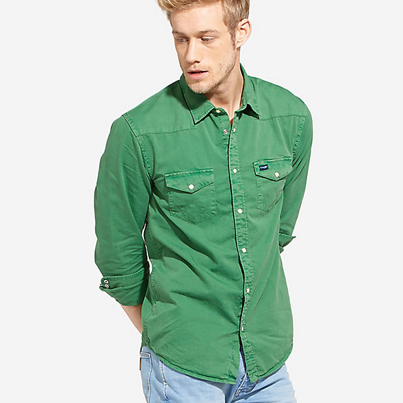 Men's 70th Anniversary Western Slim Fit Solid Shirt