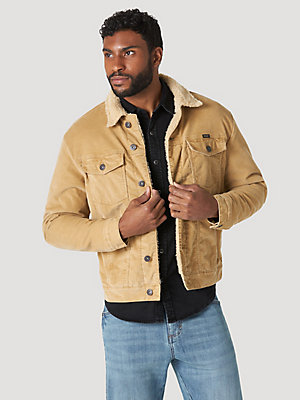 Wrangler Mens Sherpa Lined Denim Jacket