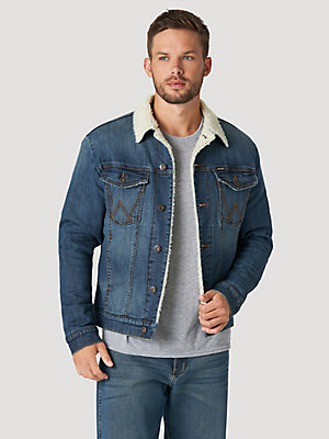 Men's Wrangler® Sherpa Lined Denim Jacket