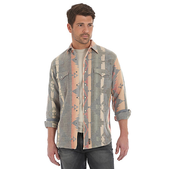 Men's Wrangler® Retro Jacquard Checotah Western Snap Shirt