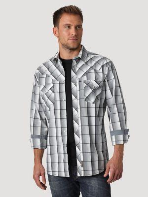 Men's Wrangler Retro® Vintage Yoke Long Sleeve Snap Pocket Plaid Shirt | Mens Shirts by Wrangler®