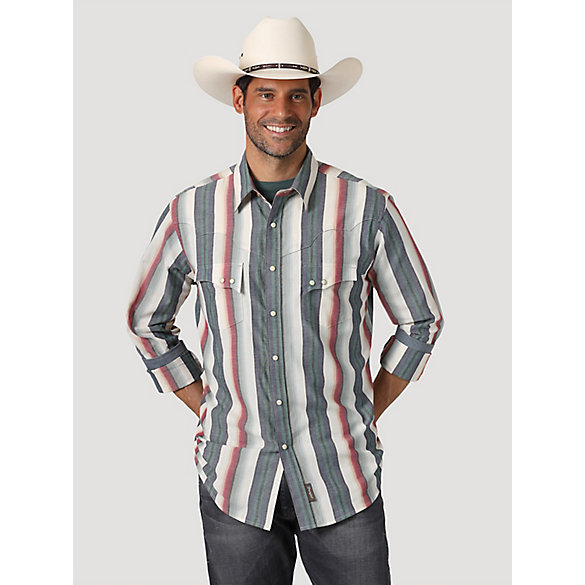Men's Wrangler Retro® Serape Stripe Western Snap Shirt