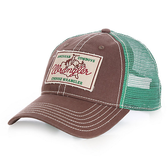 Men's  Green & Brown American Cowboys Logo Cap