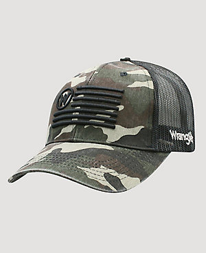 Men's Wrangler Flag Camo Trucker Hat