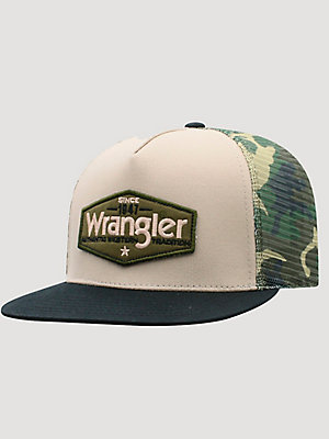 Wrangler® Men's Camo Back Trucker Hat