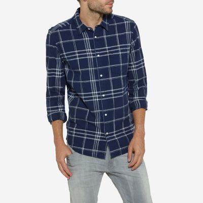 Men's Born Ready Button Down Long Sleeve Plaid Shirt