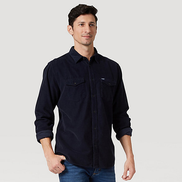 Men's Wrangler® Corduroy Long Sleeve Button Down Shirt