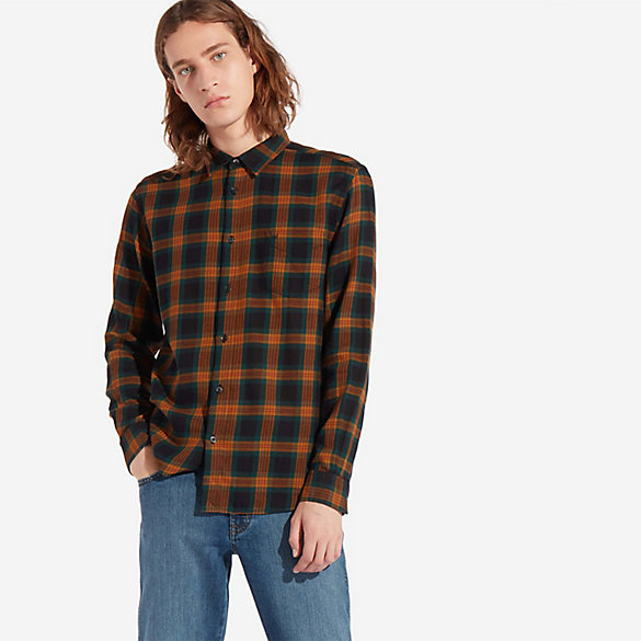 Men's One Pocket Plaid Shirt