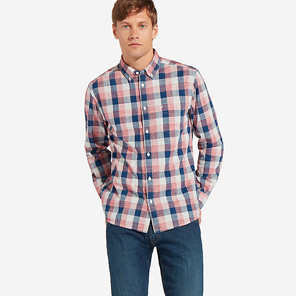 Men's Wrangler® Slub Plaid Button Up Shirt