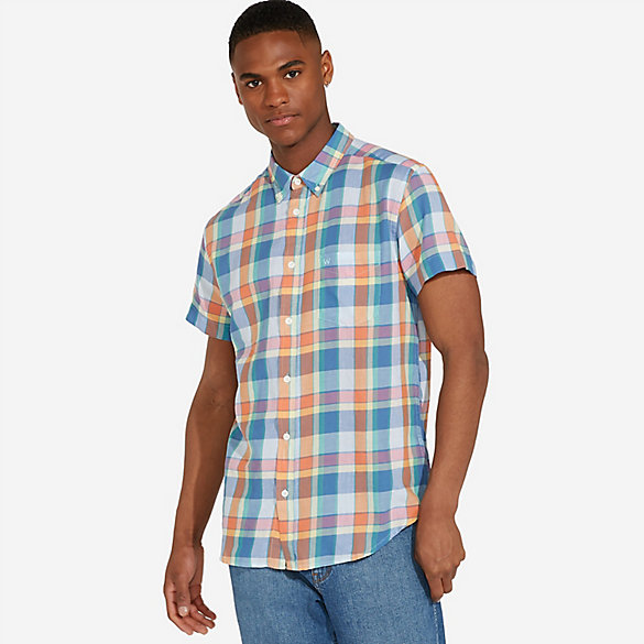 Men's Wrangler® Picnic Plaid Short Sleeve Shirt