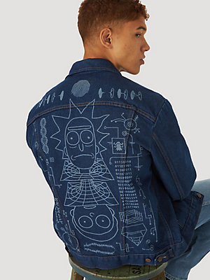 Wrangler x Rick And Morty Men's Laser Denim Jacket