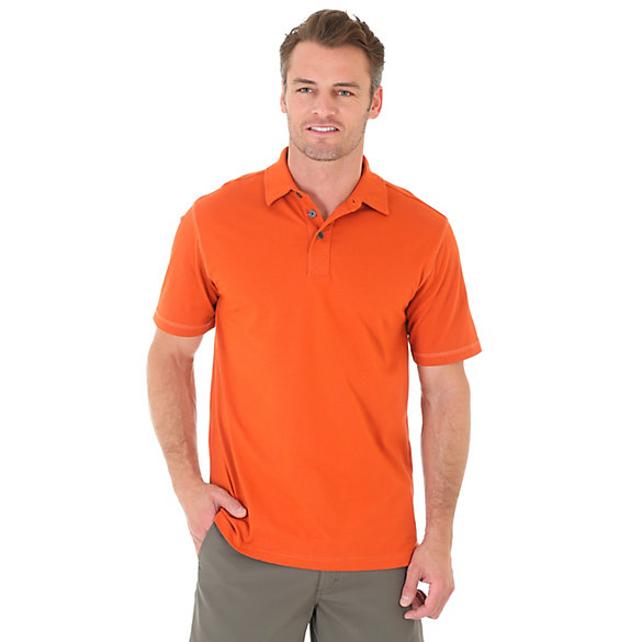 Men's Short Sleeve Solid Wicking Polo (Big Sizes)