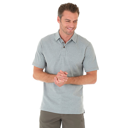Men's Short Sleeve Solid Wicking Polo