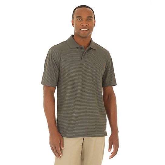 Men's Performance Short Sleeve Stripe Polos (Tall Size)