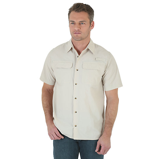 Wrangler® Short Sleeve Solid Utility Shirt (Big Sizes)