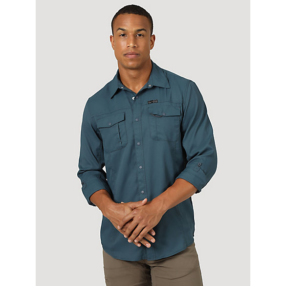 All Terrain Gear™ By Wrangler® Men's Flap Pocket Hike Shirt