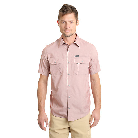Men's Outdoor Short Sleeve Flap Pocket Utility Shirt