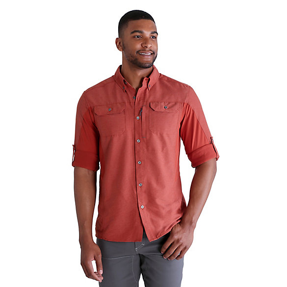 Men's Outdoor Wicking Mixed Material Utility Shirt