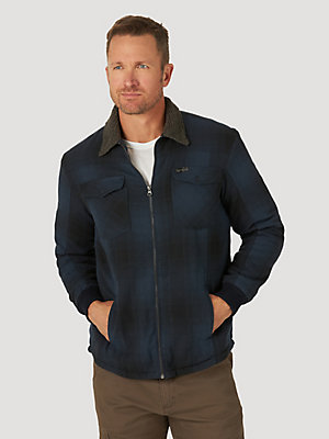 ATG™ By Wrangler® Men's Sherpa Lined Flannel Shirt Jacket