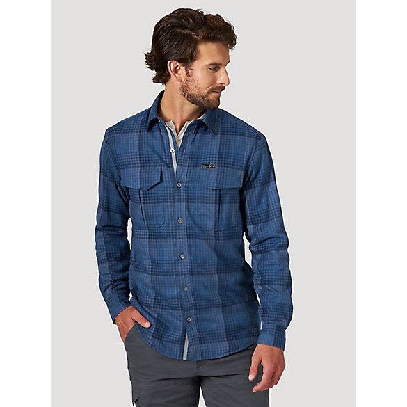 All Terrain Gear™ By Wrangler® Men's Thermal Lined Flannel Shirt