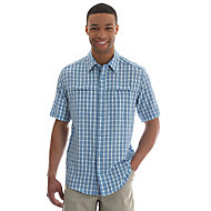 5b1e6852e9d Men's Short Sleeve Button Down Two Pocket Plaid Utility Shirt