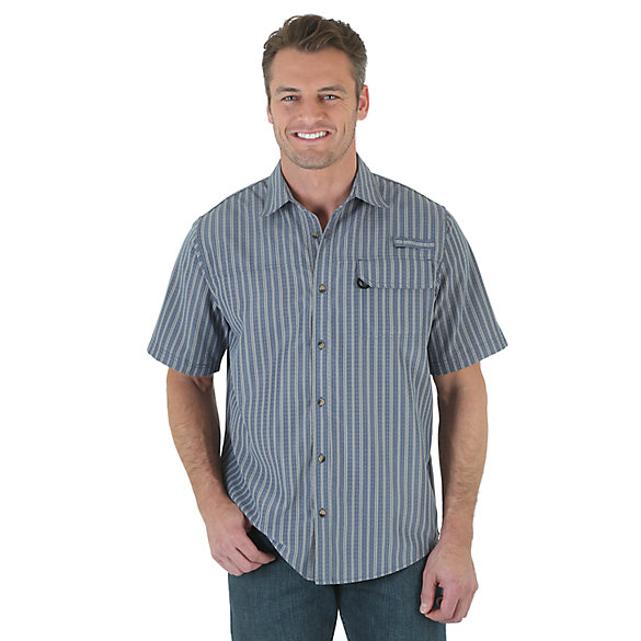 Wrangler® Short Sleeve Plaid Utility Shirt