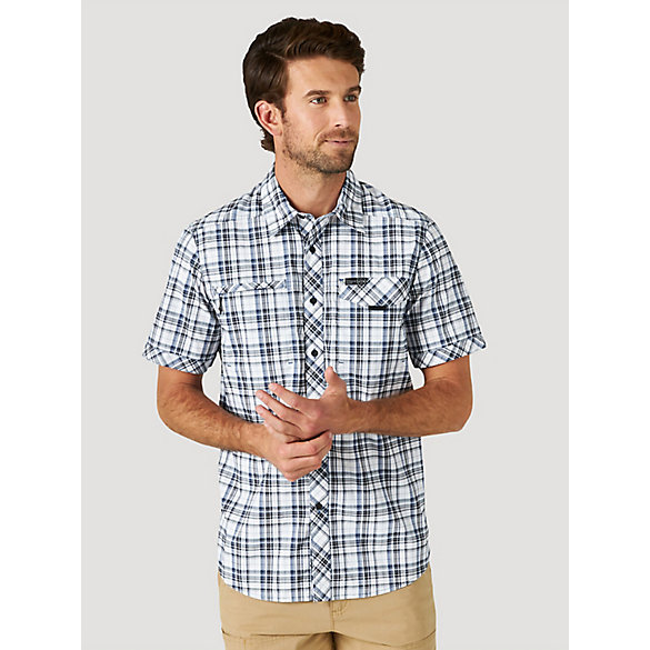 ATG™ by Wrangler® Men's Plaid Stretch Utility Shirt
