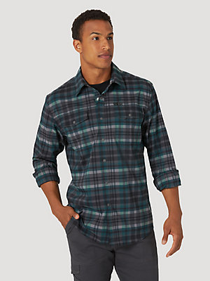 ATG™ By Wrangler® Men's Eco-Friendly Plaid Utility Shirt