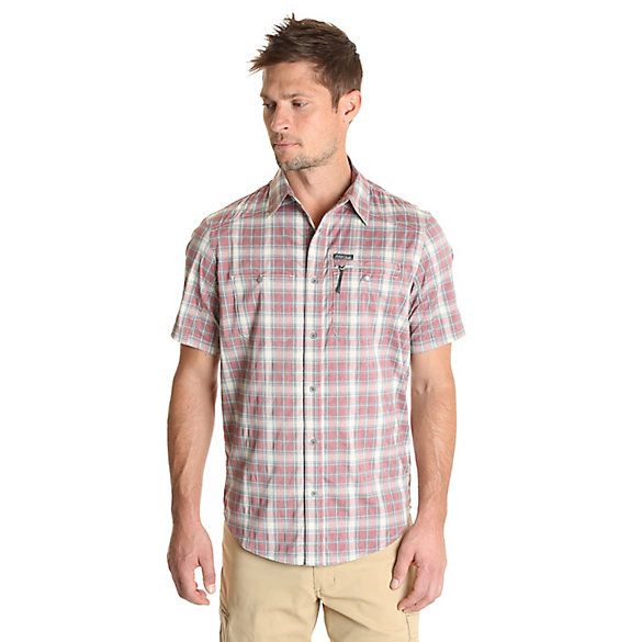 Men's Outdoor Short Sleeve Zip Pocket Utility Shirt