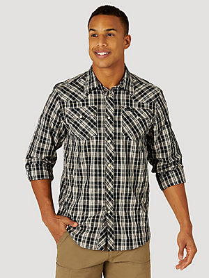ATG™ by Wrangler® Men's Western Plaid Shirt