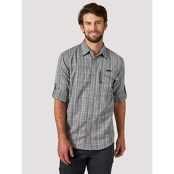 All Terrain Gear™ By Wrangler® Men's Heathered Plaid Utility Shirt
