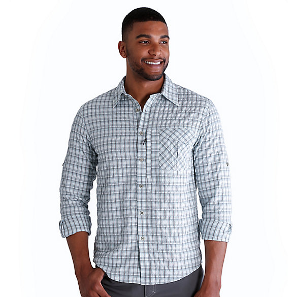 Men's Outdoor Wicking Plaid Utility Shirt