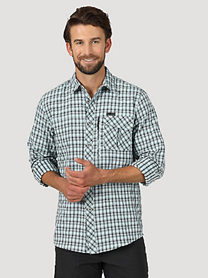 ATG™ by Wrangler® Men's Plaid Utility Long Sleeve Shirt
