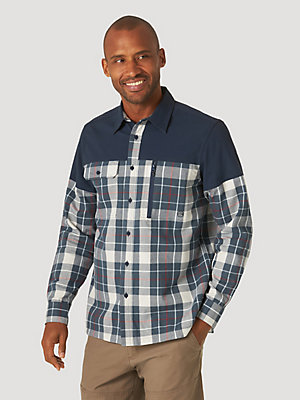 Men's Synthetic Overlay Flannel Shirt