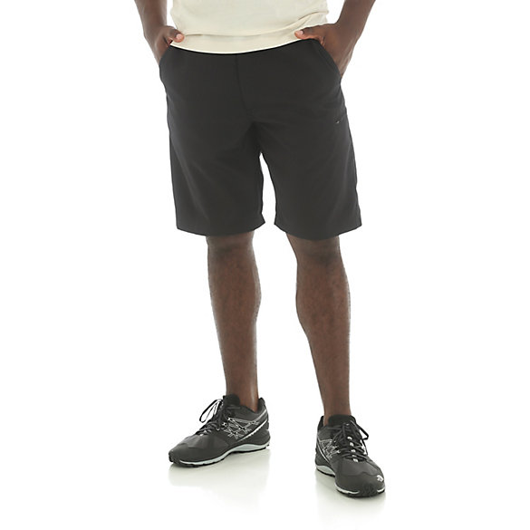 Men's Zip Cargo Shorts with Side Elastic and 4-Way Flex (Extended Sizes)