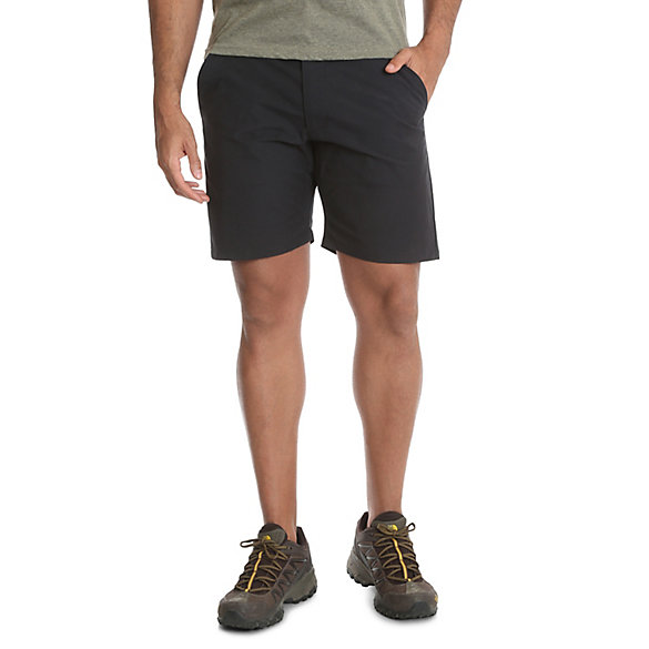Men's Outdoor Back Elastic Flat Front Short