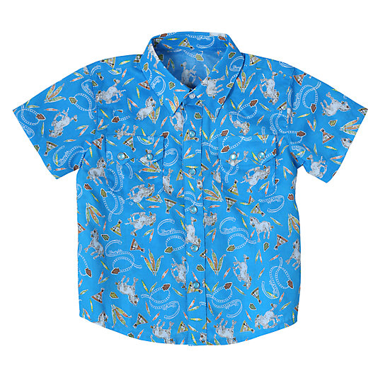 Baby Boy Short Sleeve Printed Shirt