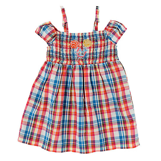 Baby Girl Empire Waist Dress with Embroidery