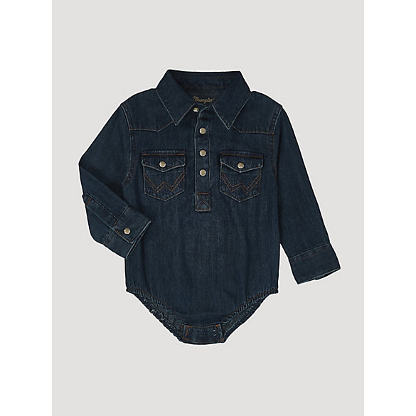 Baby Boy Long Sleeve Bodysuit Denim