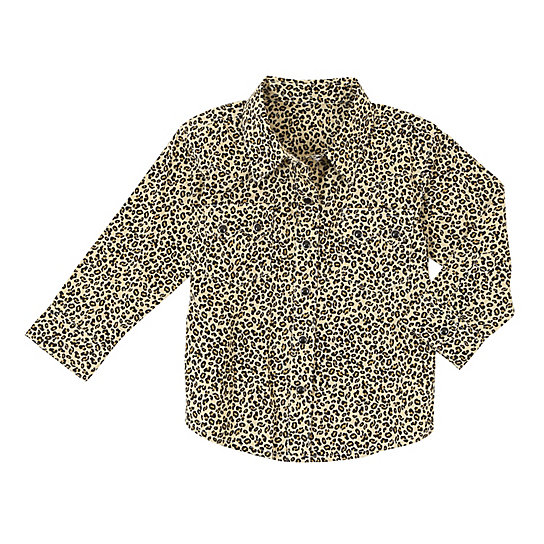 Baby Girl Long Sleeve Button-Up Shirt