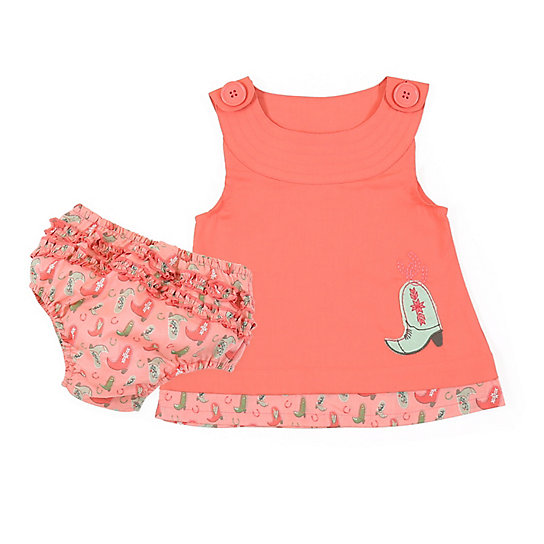 Baby Girl Romper w/ Printed Bloomer