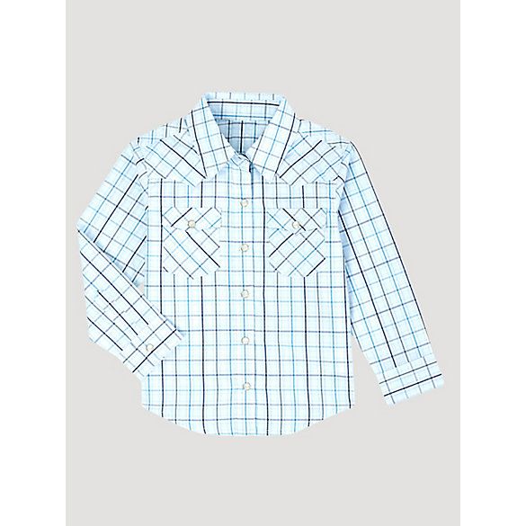 Baby Boy Long Sleeve Snap Front Plaid Western Shirt