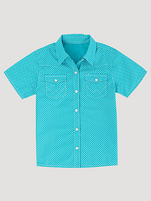Toddler Boy Short Sleeve Snap Front Print Western Shirt
