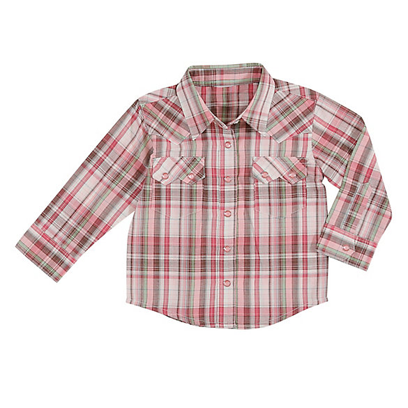 Baby Girl Long Sleeve Western Snap Shirt