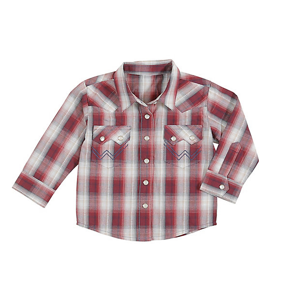 Baby Boy Plaid Long Sleeve Western Snap Shirt
